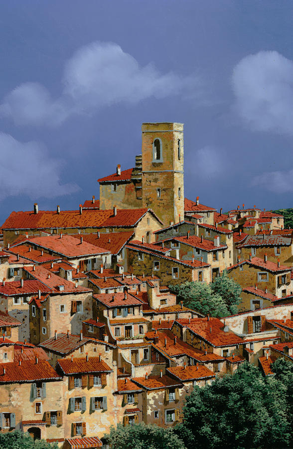 Clouds Painting - Cielo A Pecorelle by Guido Borelli