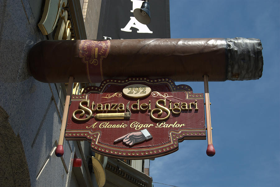 Boston Photograph - Cigar Parlor Boston by Caroline Stella