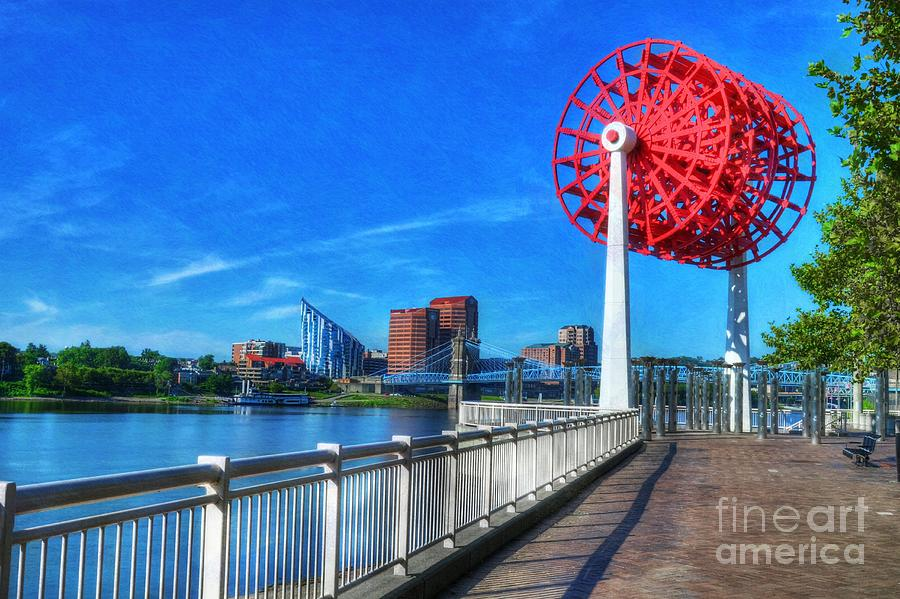 Cincinnati Photograph - Cincinnati Big Wheel 2 by Mel Steinhauer