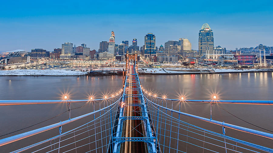Cincinnati from on top of the bridge by Keith Allen