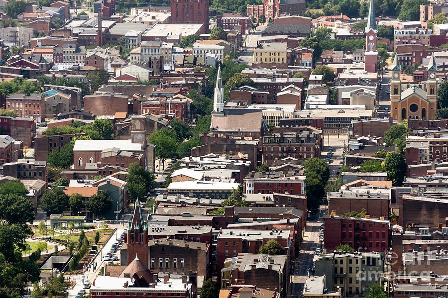 America Photograph - Cincinnati Over The Rhine Neighborhood Aerial Photo by Paul Velgos