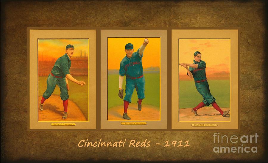 Cincinnati Reds 1911 Digital Art