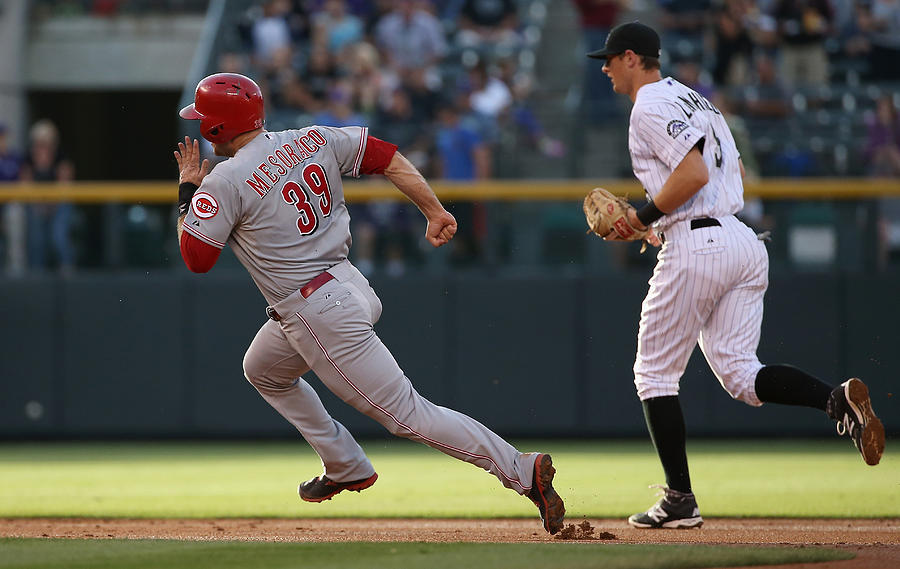 Cincinnati Reds V Colorado Rockies Photograph by Doug Pensinger