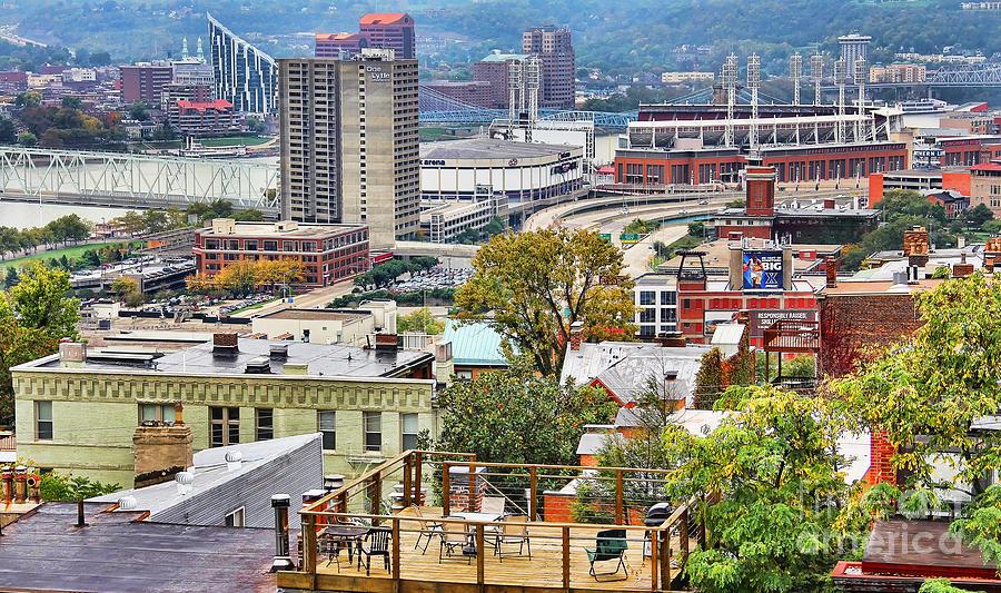 Cincinnati Ohio Photograph - Cincinnati Rooftop 9965 by Jack Schultz
