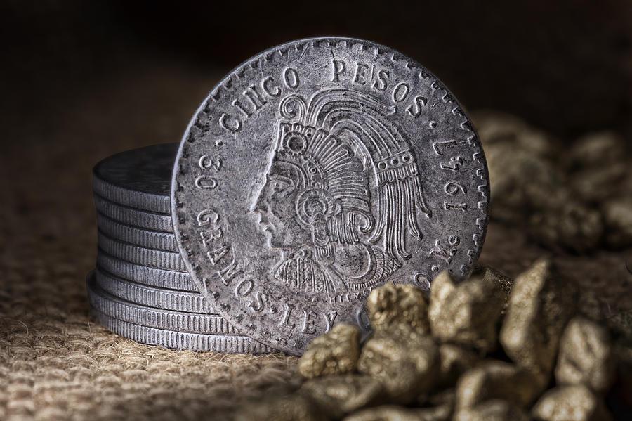 Cash Photograph - Cinco Pesos Still Life by Tom Mc Nemar