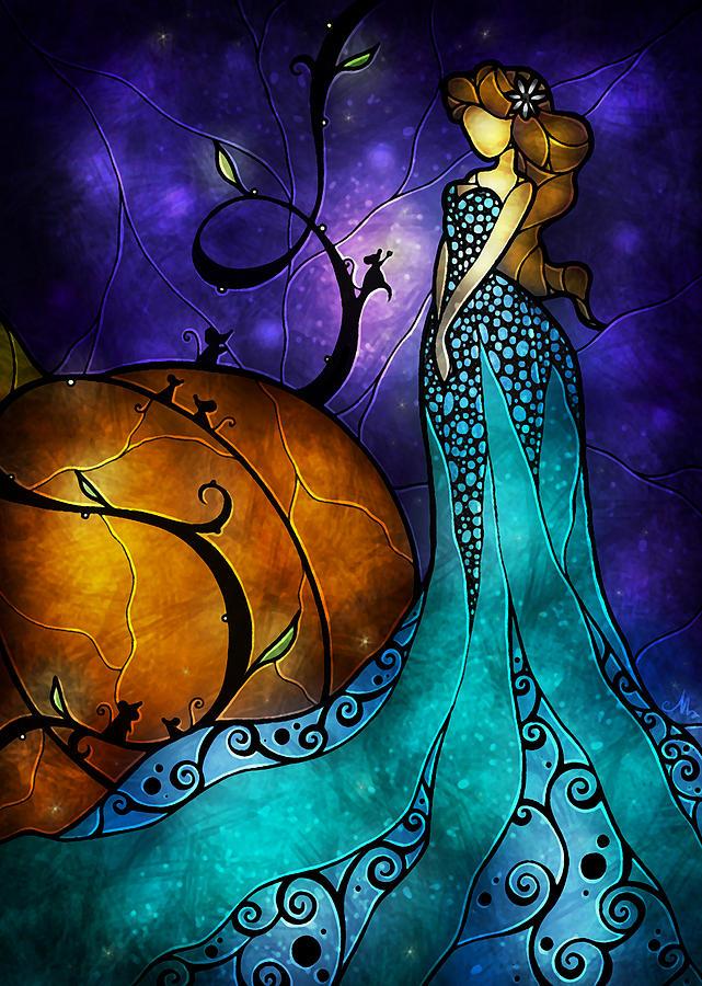 Cinerella Painting - Cinderella by Mandie Manzano