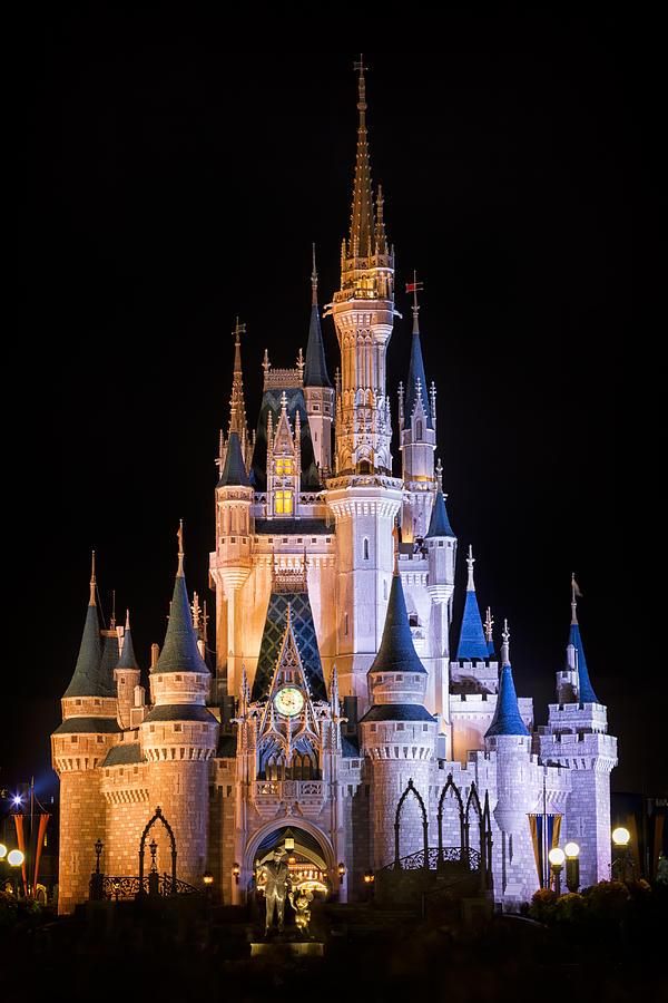 3scape Photograph - Cinderellas Castle in Magic Kingdom by Adam Romanowicz