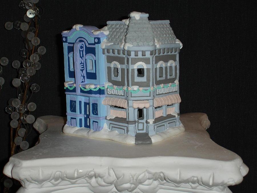 Acrylic Ceramic Art - Cinema And Soda Fountain by Mademoiselle Francais