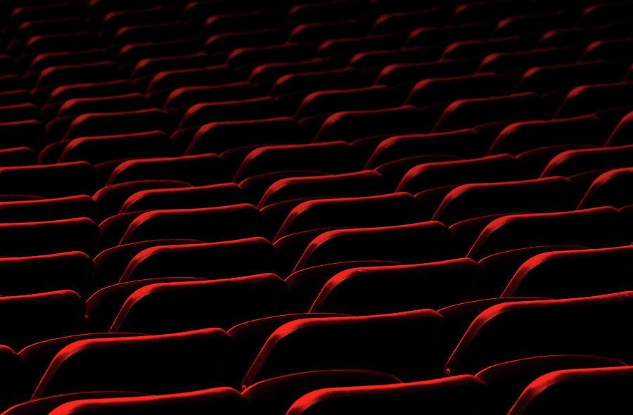 Red Photograph - Cinema by Hans-wolfgang Hawerkamp