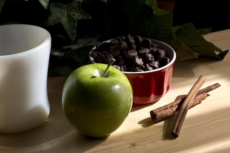 Cinnamon Apple With Chocolate Photograph