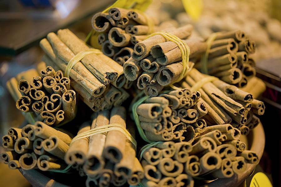 Cinnamon Sticks For Sale In Spice Bazaar Photograph by Daniel Alexander / Design Pics