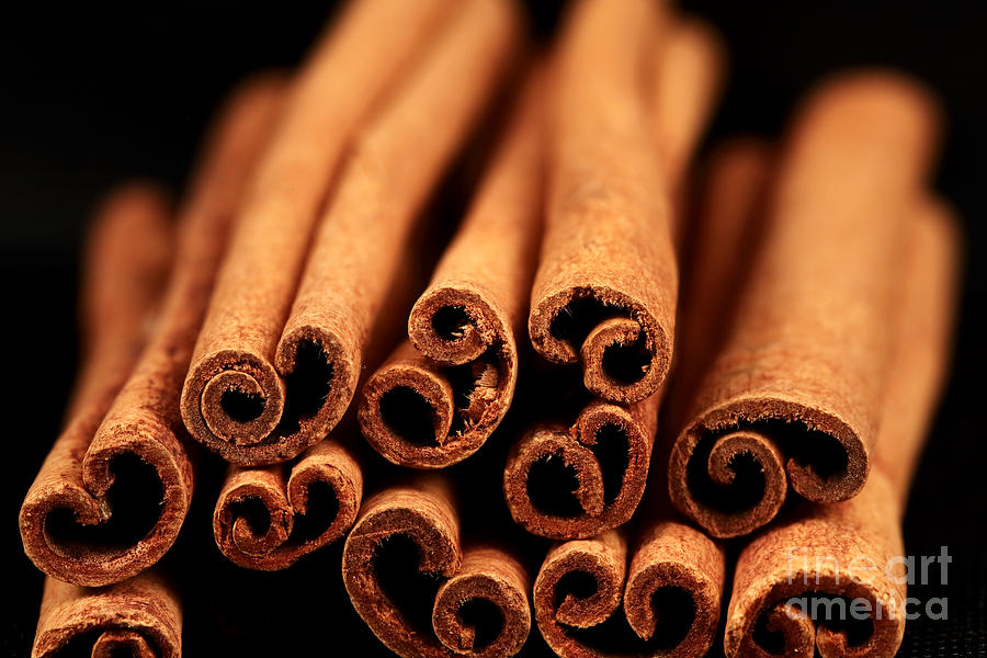 Cinnamon Photograph - Cinnamon Sticks by John Rizzuto