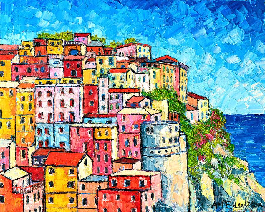 Cinque Terre Oil Painting