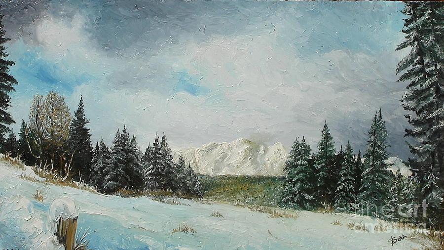 Winter Painting - Cioplea by Sorin Apostolescu