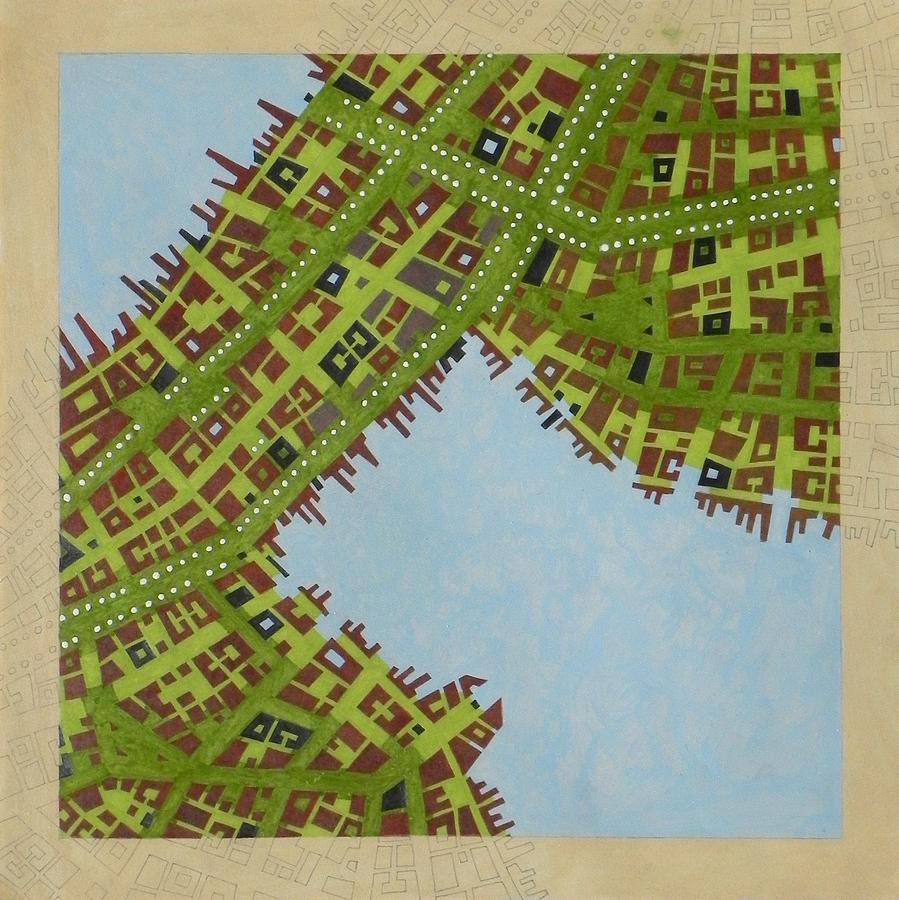 Aerial Photo Mixed Media - Cipher N. 16 by Federico Cortese