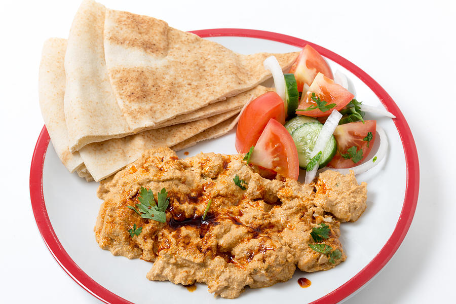 Circassian Chicken With Salad And Bread is a photograph by Paul Cowan ...