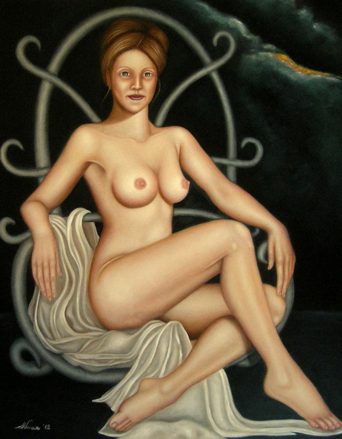Nude Painting - Circe by Alessandra Veccia