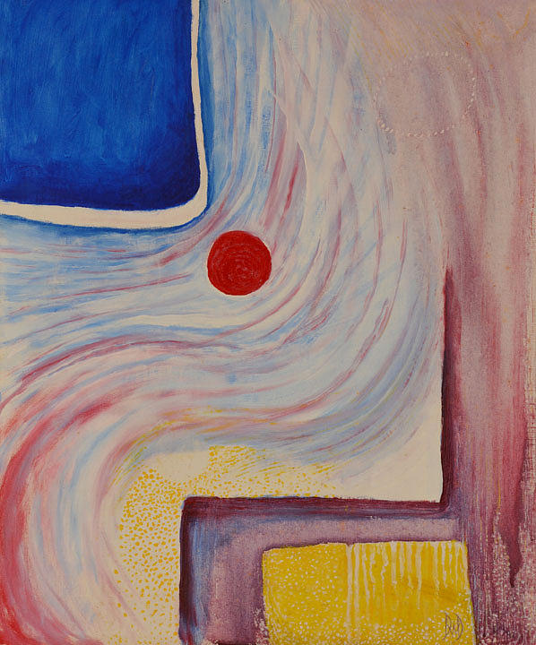 Abstract Painting - Circle And Corner by David Douthat