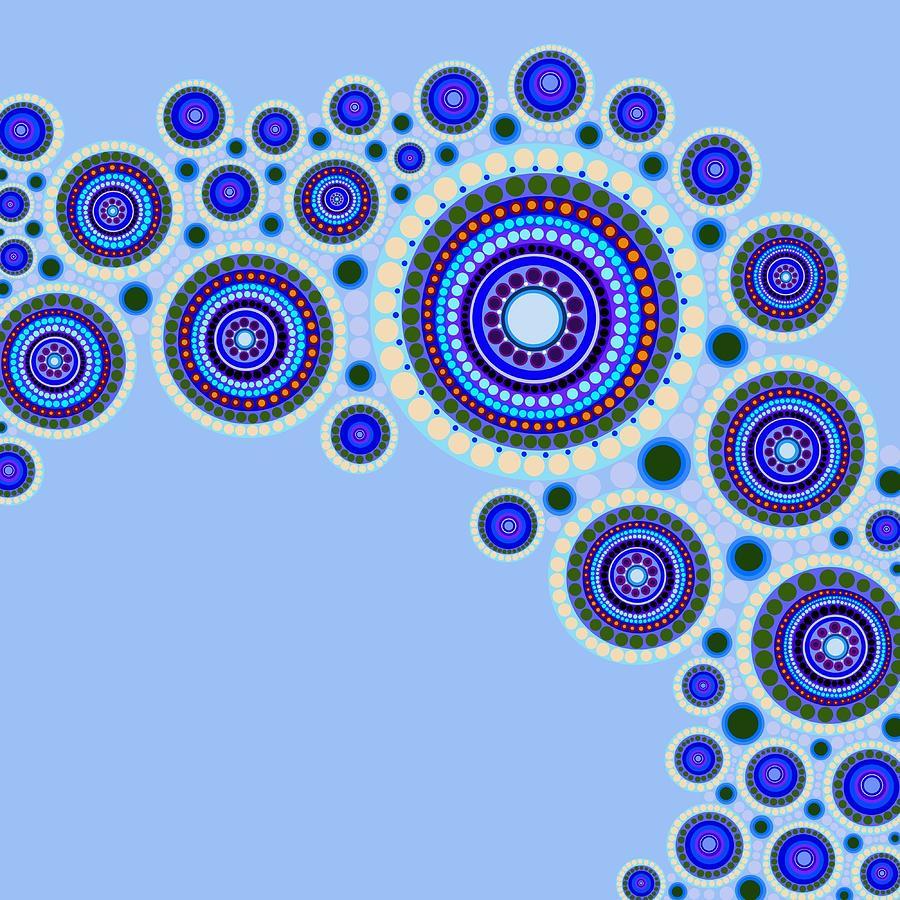 Abstract Painting - Circle Motif 117 by John F Metcalf