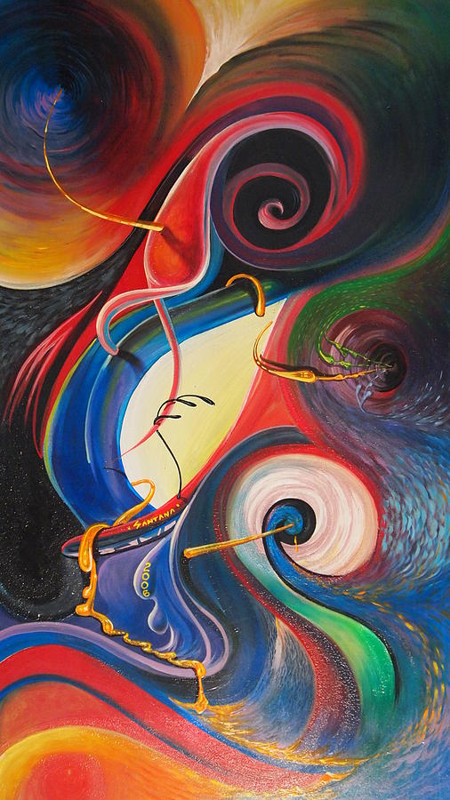 Swirls Painting - Circle Of Life by Dayna Reed
