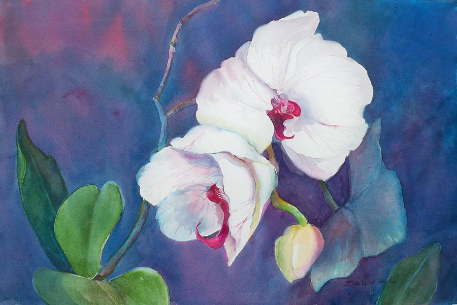 Watercolor Flowers Painting - Circle Of Life by Sue Kemp