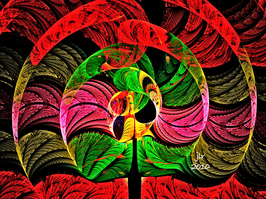 Fractal Digital Art - Circle Of Wisdom by Janet Russell