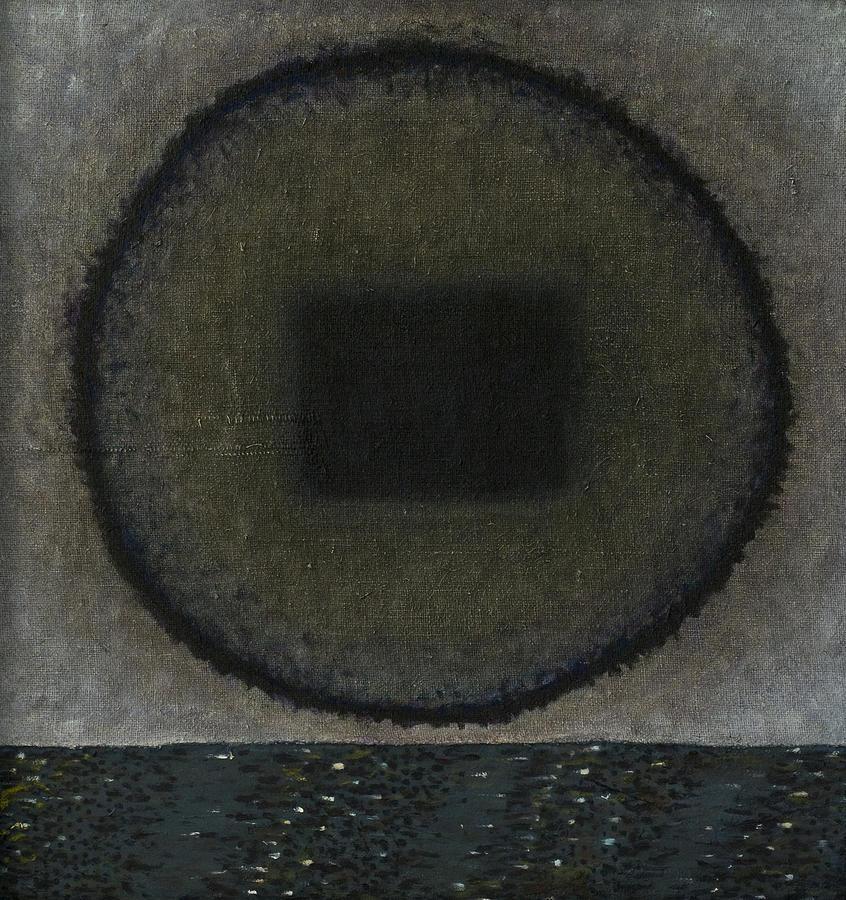 Bed Painting - Circle-pillow by Oni Kerrtu