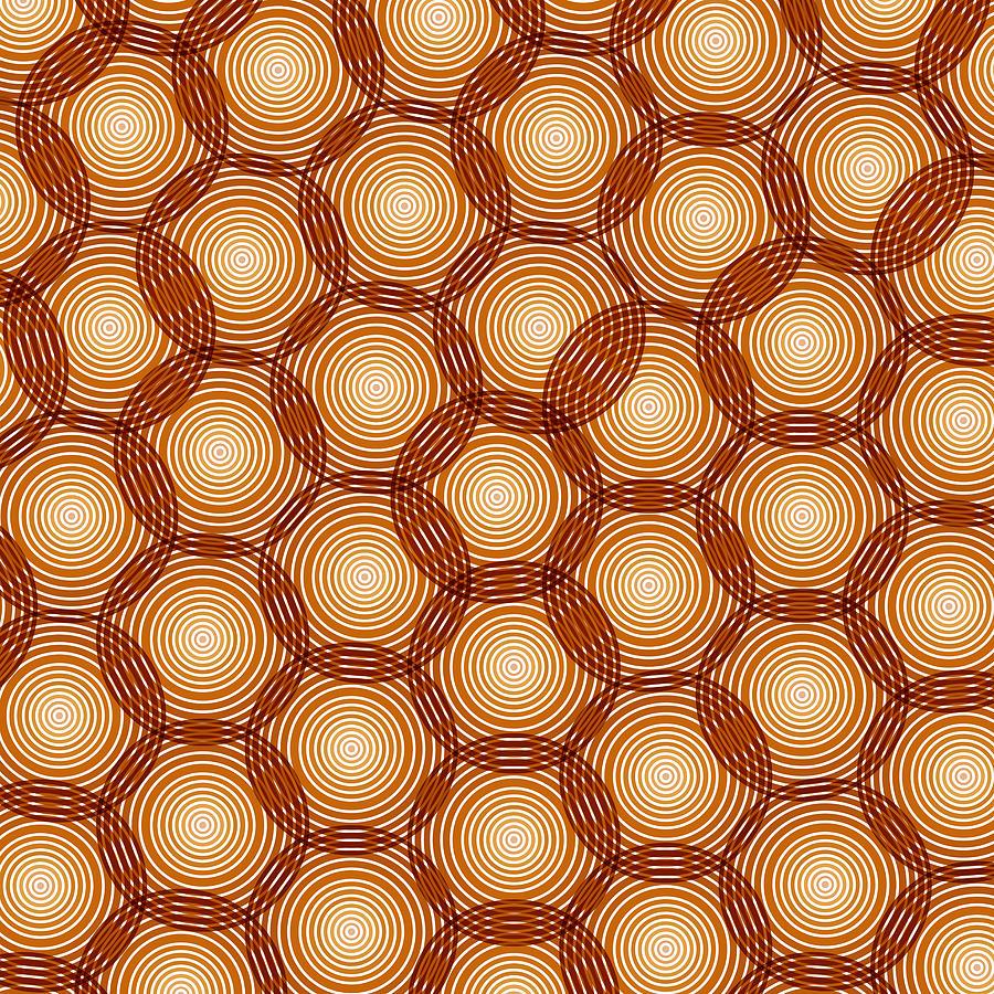 Circles Painting - Circles Abstract by Frank Tschakert