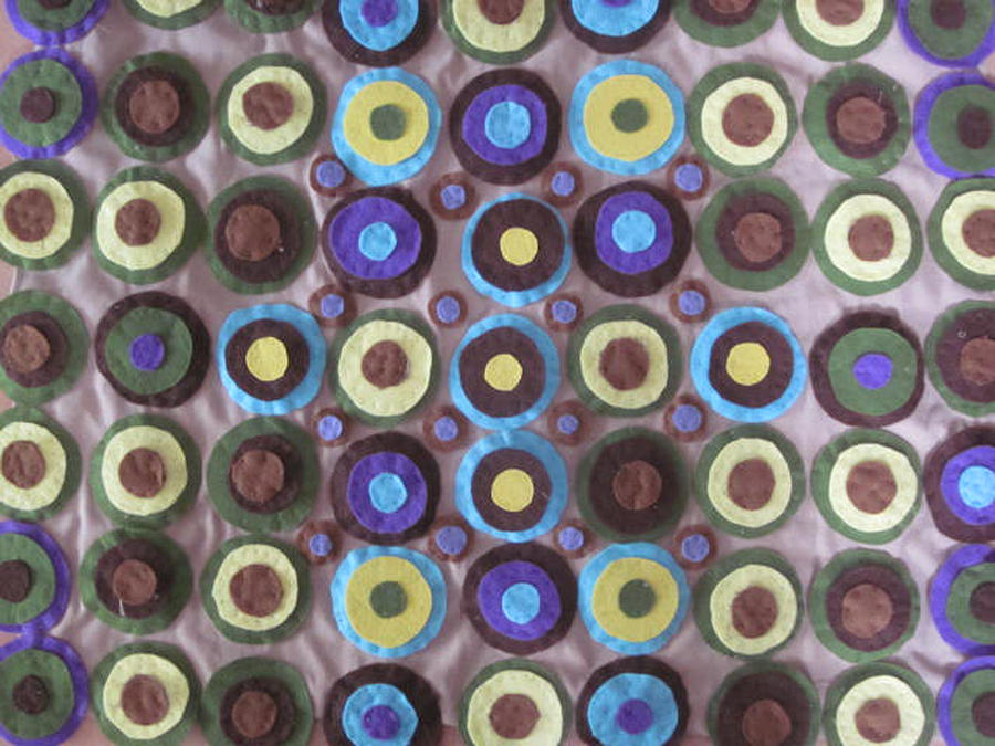 Circles Tapestry - Textile - Circles And Dots by Cherie Sexsmith