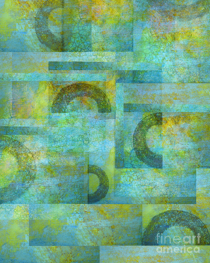 Abstract Art Mixed Media - Circles And Squares by Ann Powell