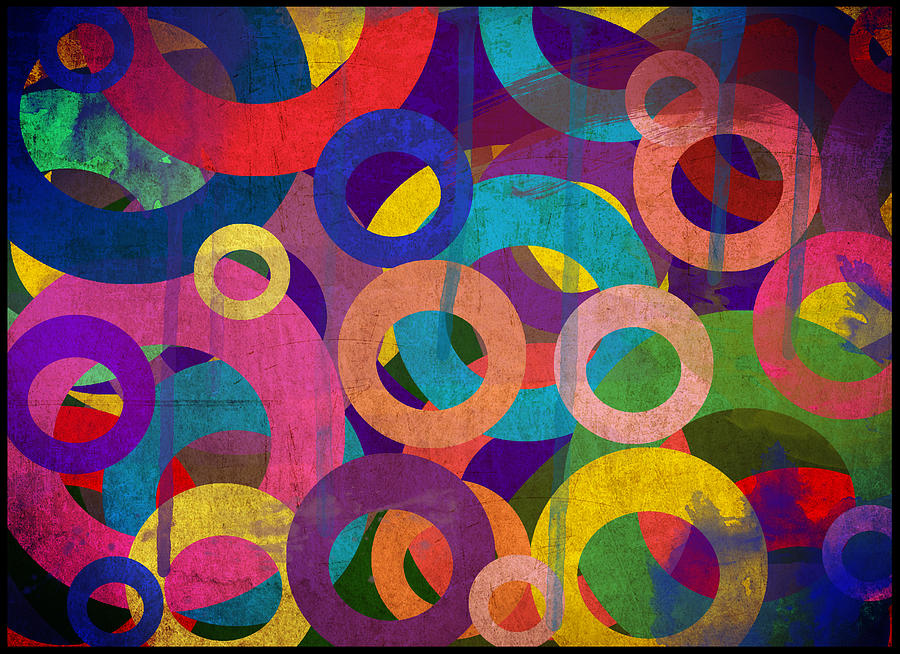 Abstract Photograph - Circles by Aya Murrells