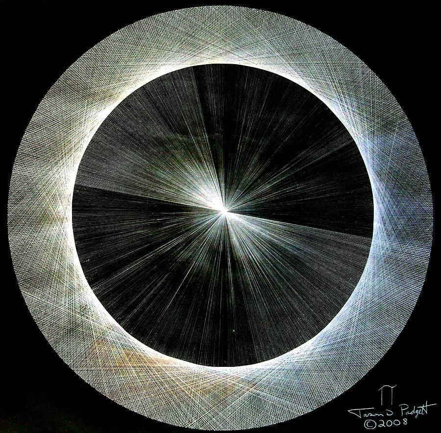 Jason Drawing - Circles Do Not Exist 720 The Shape Of Pi by Jason Padgett