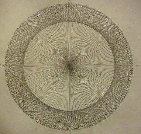 Circles Dont Exist Two Degree Frequency Drawing by Jason Padgett