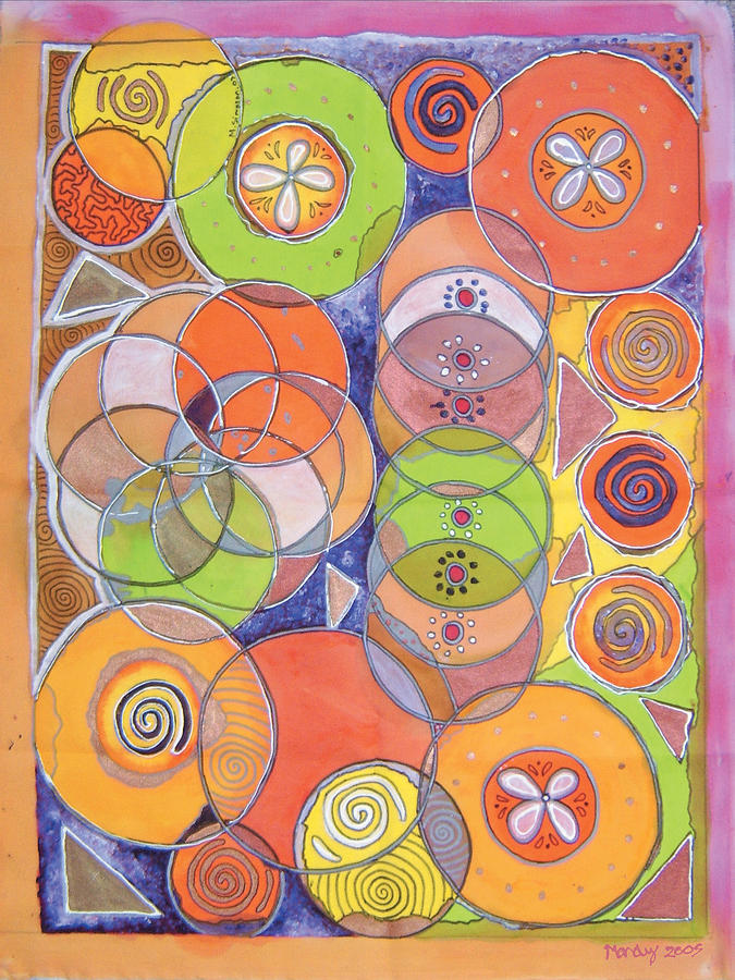 Circles Within Circles Painting by Mandy Simpson