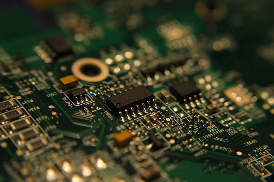 Circuit Board Photograph - Circuit Board by Richard Stephen