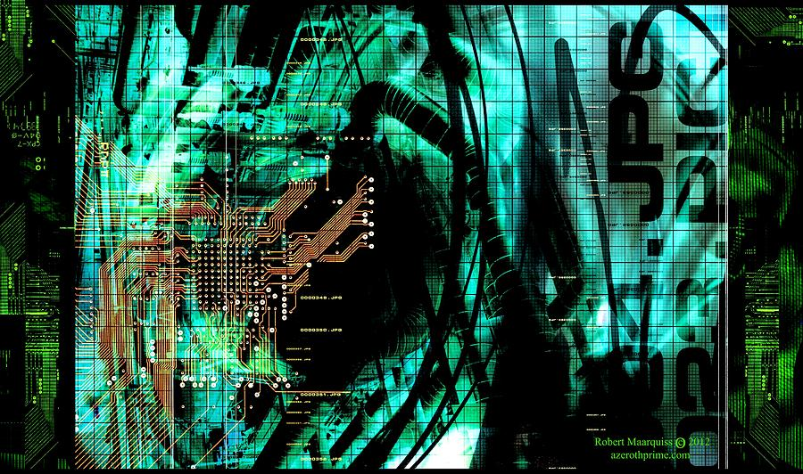 Circuit Board Digital Art - Circuit Board by Robert Marquiss