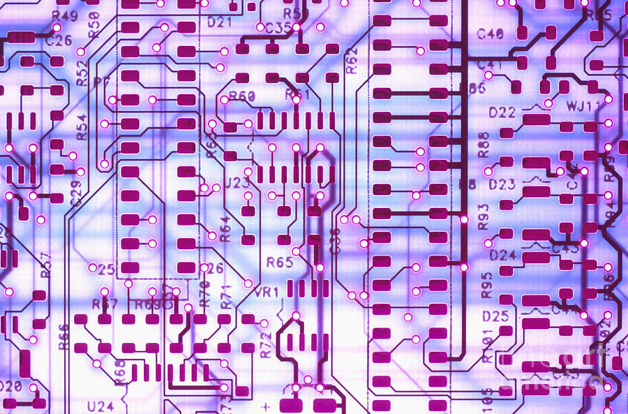 Printed Photograph - Circuit Trace II by Jerry McElroy