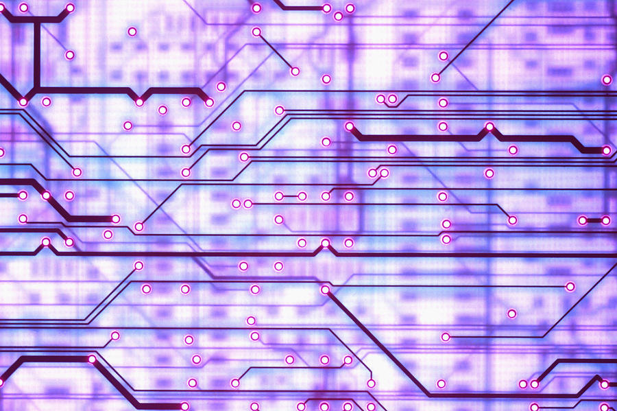 Printed Photograph - Circuit Trace by Jerry McElroy