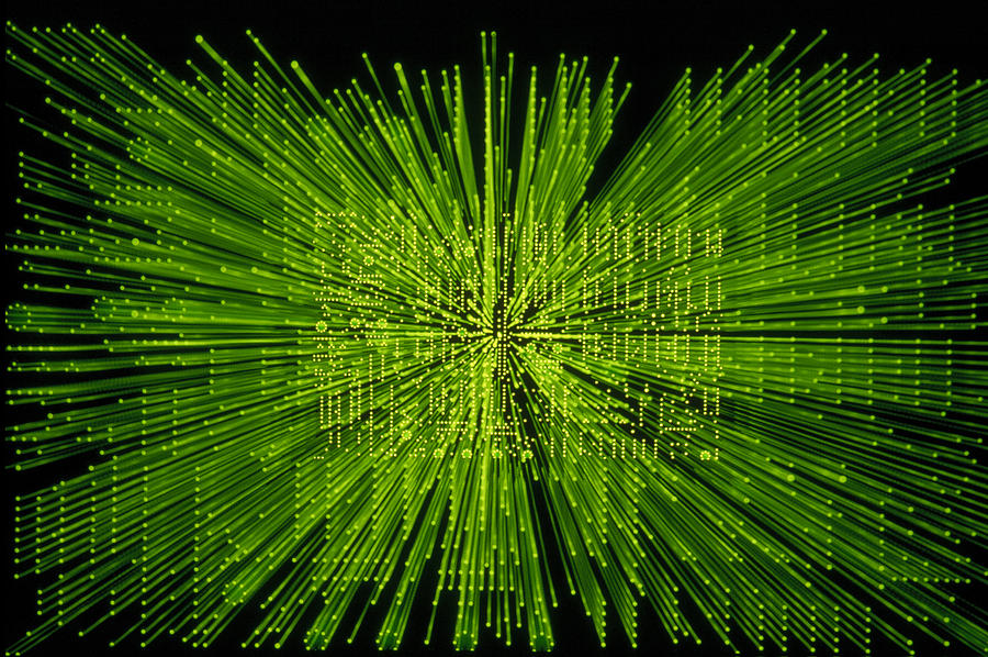 Green Photograph - Circuit Zoom by Jerry McElroy