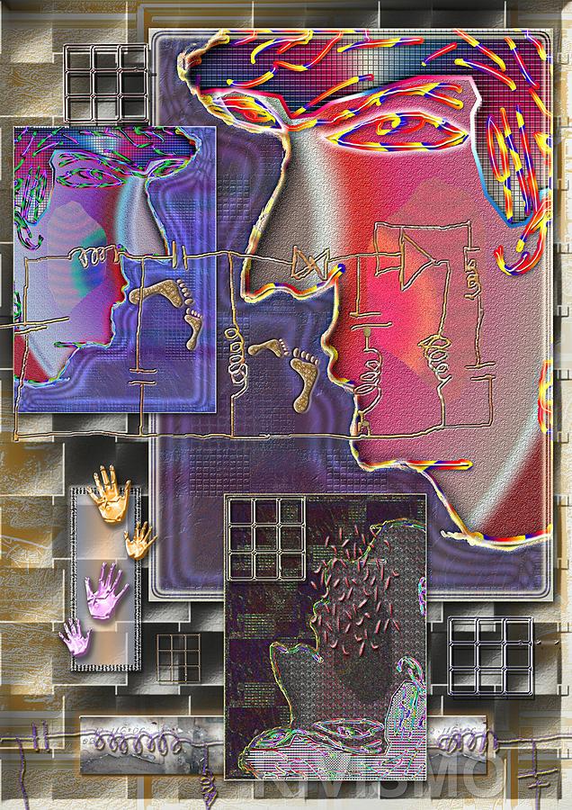 Perfiles Painting - Circuitos entre Perfiles by Ramon Rivas - Rivismo
