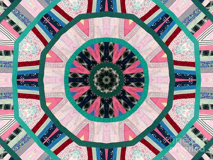 Patchwork Photograph - Circular Patchwork Art by Barbara Griffin