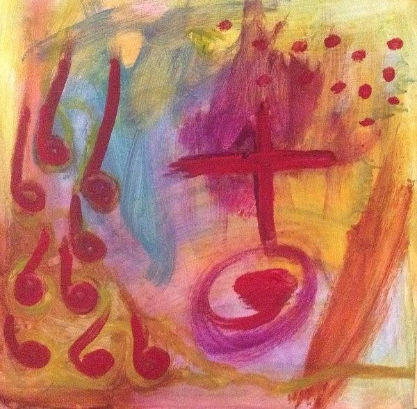 Abstract Painting - Circus by Maggie Hernandez