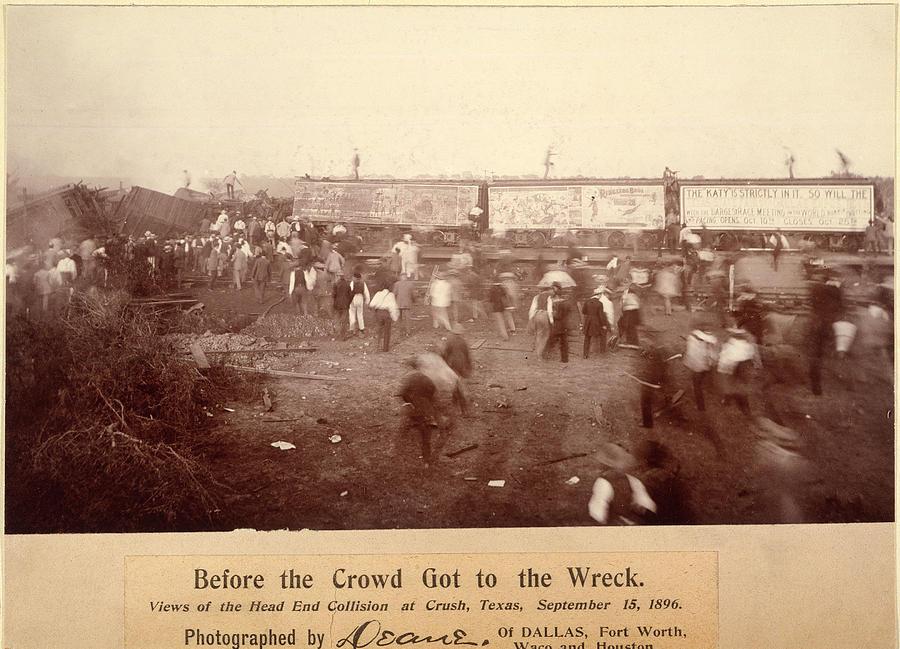1896 Photograph - Circus Train Wreck, 1896 by Granger