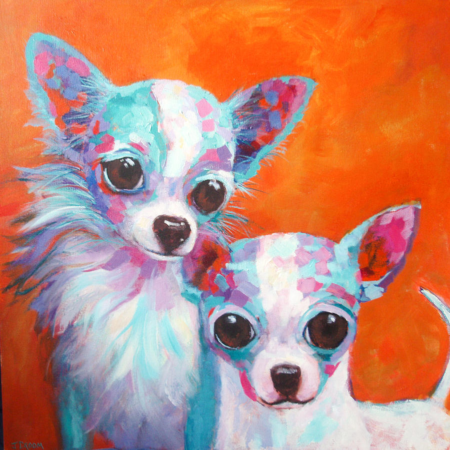 Chihuahua Painting - Cisco And Babe by Jennifer Croom