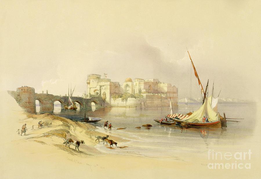 Port Painting - Citadel Of Sidon by David Roberts