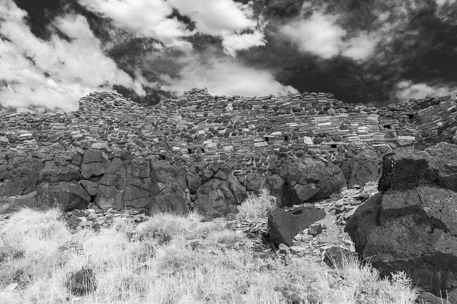 Flagstaff Photograph - Citadel Pueblo West Wall by Chris Bordeleau