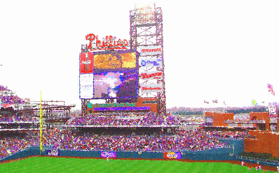 Philadelphia Digital Art - Citizens Bank Park by Barbara Hammond