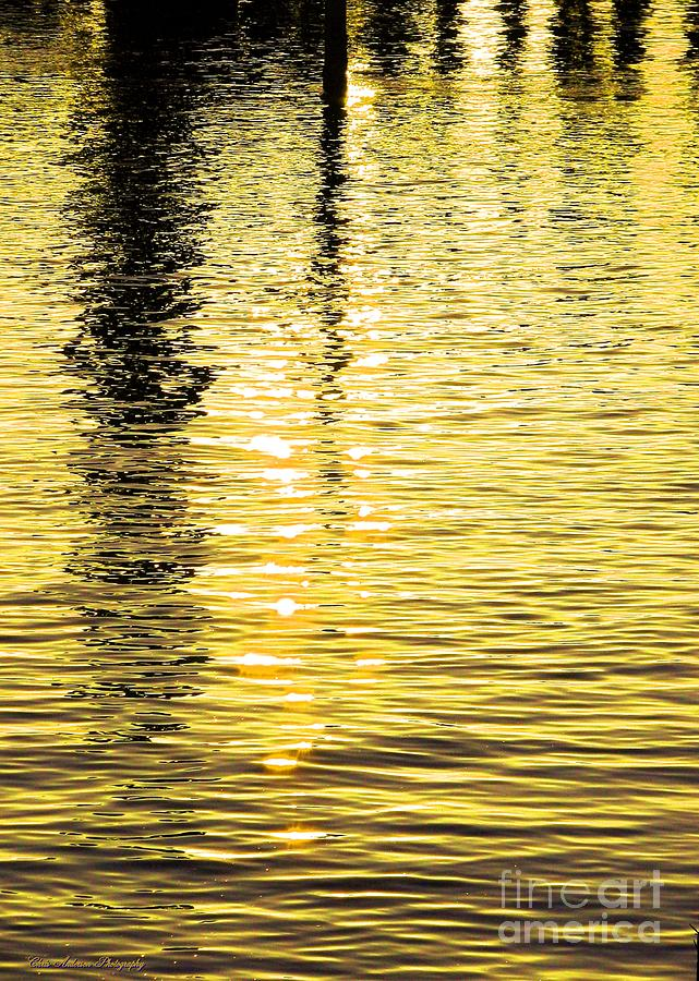 Abstract Photograph - Citrine Ripples by Chris Anderson