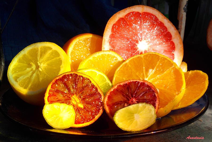 Citrus Fruit Photograph - Citrus Season by Anastasia Savage Ealy