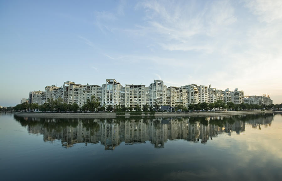 Bucharest Photograph - City And Water by Ioan Panaite
